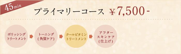 プライマリーコース ¥7,500-
