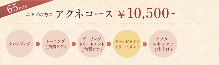 ニキビの方にアクネコース ¥10,500-